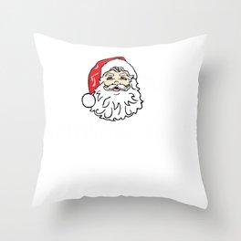 VSCO Christmas Merry Christma sksksk and I Oop VSCO Santa Throw Pillow
