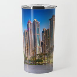 Lights, steel and glass Travel Mug