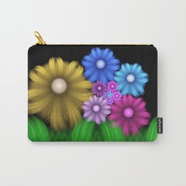 Soft And Dreamy Flower Meadow, Fractal Art Carry-All Pouch