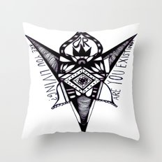 are you living or are you existing? Throw Pillow