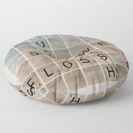 Bathroom 'Scrabble' Letters Floor Pillow