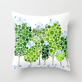 Tree Frost Throw Pillow