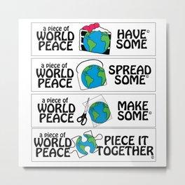 World Peace, Illustration Metal Print