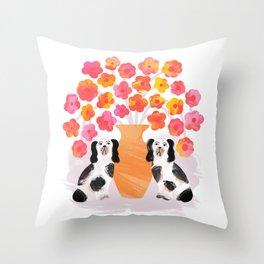 Spring Fling – Dogs Throw Pillow