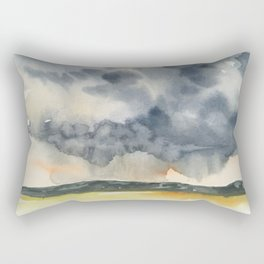 Deluge Watercolor Painting by Jeani Eismont Rectangular Pillow