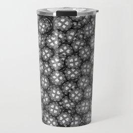 Poker chips B&W / 3D render of thousands of poker chips Travel Mug