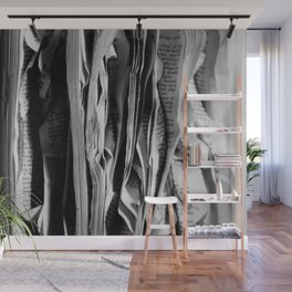 The Holy Book - High Contrast Black And White Typographic Design Wall Mural