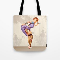 Redhead pin-up Tote Bag