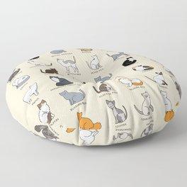 Cat Breeds Floor Pillow