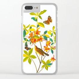 Vintage Floral Illustration Clear iPhone Case
