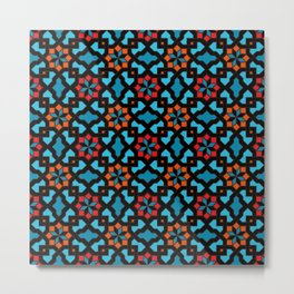 Beautiful oriental flower pattern 3 Metal Print