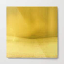 Yellow Abstract Color Field, Modern Wall Art, Bold, Minimal, Abstract Landscape Metal Print