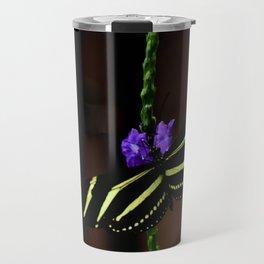 Zebra Longwing Butterfly Travel Mug