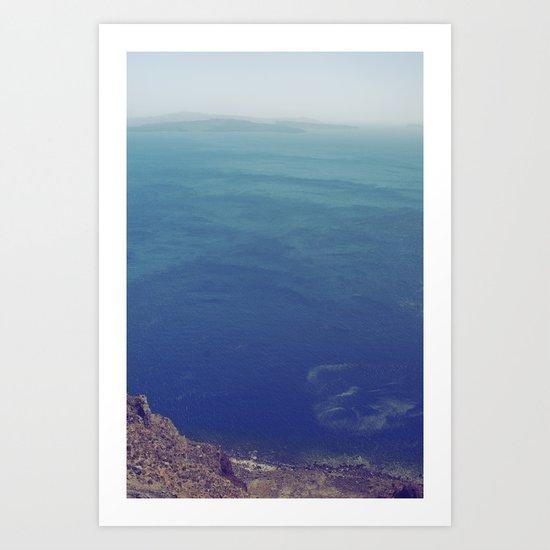 Sea green, ocean blue Art Print