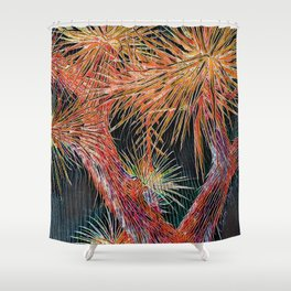 Joshua Tree Mosaic by CREYES Shower Curtain