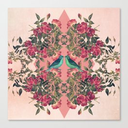 Love Birds II (pink edition) Canvas Print