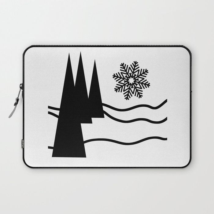 Christmas Trees and Snow Laptop Sleeve