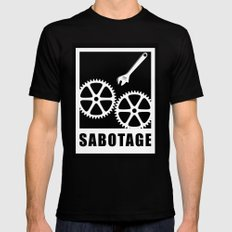 Sabotage MEDIUM Mens Fitted Tee Black