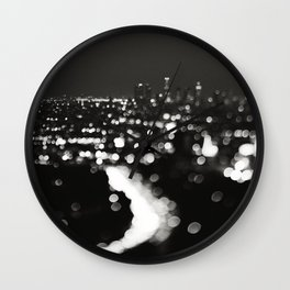 Los Angeles cityscape. L.A. Noir Wall Clock