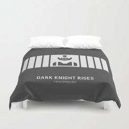 Flat Christopher Nolan movie poster: Dark K. R. Duvet Cover