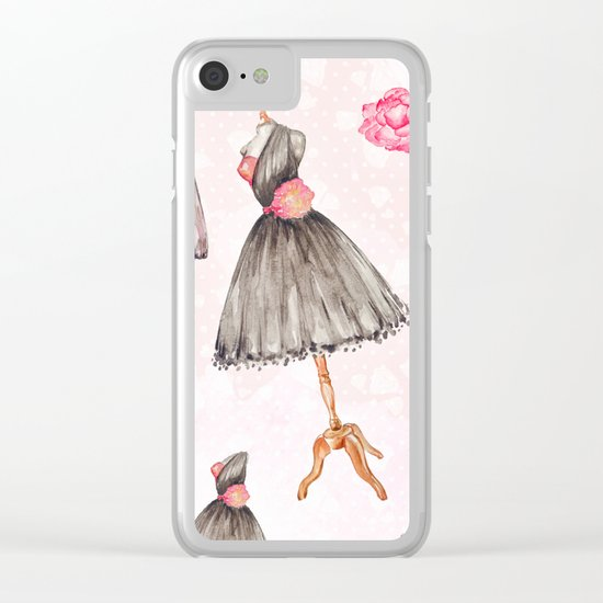 Black dress fashion #1 Clear iPhone Case