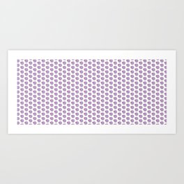 Spiffy circle and square pattern Art Print