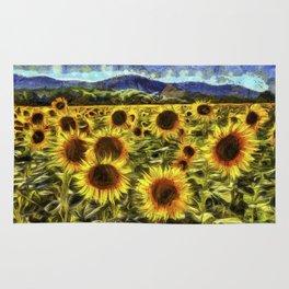 Sunflowers Vincent Van Gogh Rug