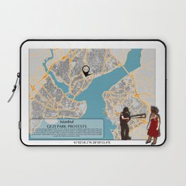 Atlas of Inspiring Protests; ISTANBUL Laptop Sleeve