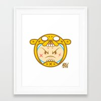 finn and jake Framed Art Prints featuring Jake & Finn  by Miguel Manrique