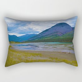 Morrow Peak & the Athabasca River in Jasper National Park, Canada Rectangular Pillow