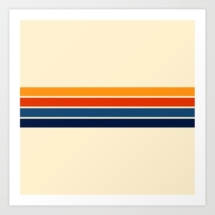 Classic Retro Stripes Kunstdrucke