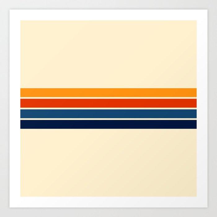 Classic Retro Stripes Art Print