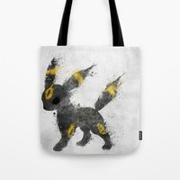 the moon Tote Bags featuring Moon by Melissa Smith