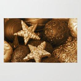 Golden Christmas  Rug