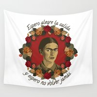 frida Wall Tapestries featuring FRIDA by badOdds