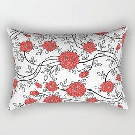 Rose Flower pattern Rectangular Pillow