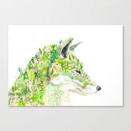 Botanical Fox  Canvas Print