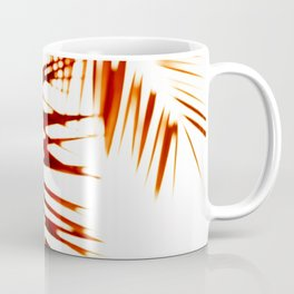 Caramel Abstract Palms - Palm Tree Leaves photography by Ingrid Beddoes Coffee Mug