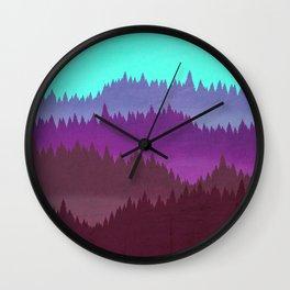 Retro Mountain Poster Wall Clock