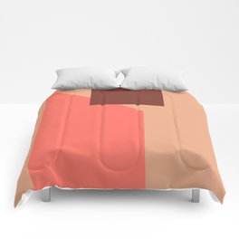 Coral Abstract Comforters