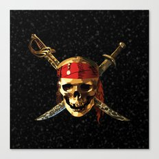 The Smile Skull Pirates Canvas Print