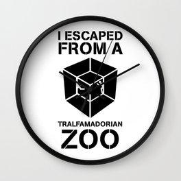 I Escaped From a Tralfamadorian Zoo Wall Clock