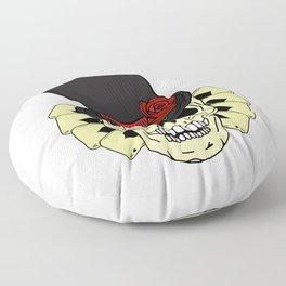 Magician Skull in Top Hat Floor Pillow