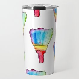 Paint Your Life With Your Colors nursery illustration colorful rainbow paint brush positive quote Travel Mug