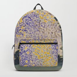 Landscape with Sky and Stars by Henri-Edmond Cross  Backpack