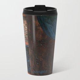 Abstract Reversed Travel Mug