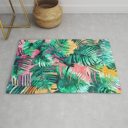 I'm All About Palm Trees & 80 Degrees #painting #illustration #botanical Rug