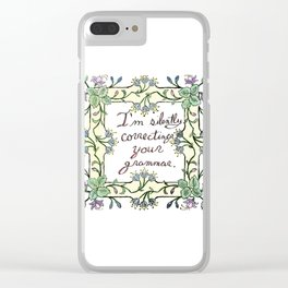 Salt and Flowers 2 - Silent Correction Clear iPhone Case