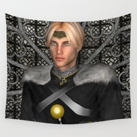 fairytale Wall Tapestries featuring Fairytale Prince by Design Windmill