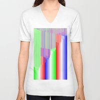 pivot V-neck T-shirts featuring R Experiment 3 (quicksort v1) by X's gallery
